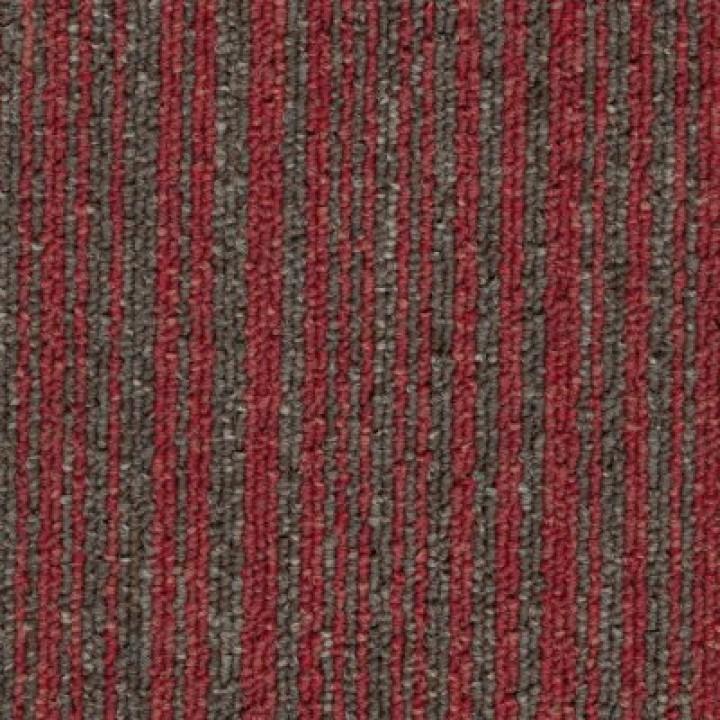 Ковровая Плитка Stripe (Страйп) 155 Коричневый-красный