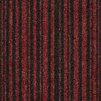 Ковровая Плитка Stripe (Страйп) 165 Красный-Черный