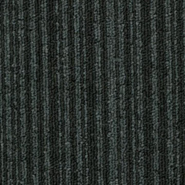 Ковровая Плитка Stripe (Страйп) 189 Черный-Серый