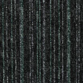 Ковровая Плитка EverestLine (Эверест Лайн) 577 Черный-зеленый