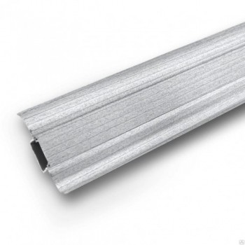 Плинтус пластиковый Ideal 253 Ясень серый 55 мм